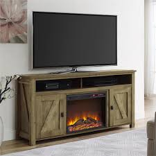Ameriwood Farmington Heritage Pine Fire Place Entertainment Center