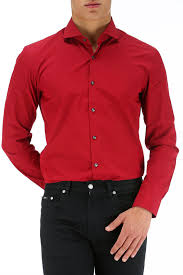 beauty and fashion mens red dress shirt