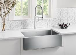 Best Quality Kitchen Sink Material by Blanco Quatrus R15 Apron Front Kitchen Sink Blanco