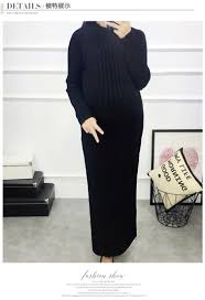 7303 2016 autumn winter knitted maternity sweater dress elegant