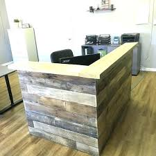 Reception Desk Ideas Wood Reclaimed Counter By