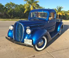 100 1938 Ford Truck Pickup Model 85 Electric Blue Original Engine With