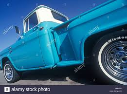 100 Classic Truck Central A Blue And White Pick Up Truck In Valley CA Stock Photo