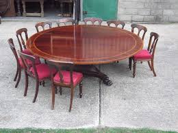Amazing Huge Round Georgian Table 7ft Diameter Regency Revival 14 Seat Outdoor Dining Prepare