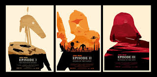 Ollie Boyd Has Created A Set Of Movie Posters For The Star Wars Prequels In Style Olly Moss Trilogy Poster