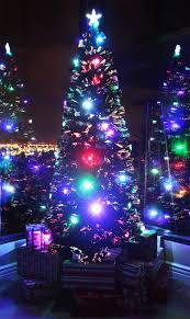 3 Ft Fiber Optic Christmas Tree Walmart by 8 Ft Pre Lit Multi Color Led U0026 Fiber Optic Christmas Tree Bright