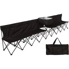Trademark Innovations 13.5 Ft. Black Portable 8-Seater Folding Team Sports  Sideline Bench (Attached Cooler) Trademark Innovations 135 Ft Black Portable 8seater Folding Team Sports Sideline Bench Attached Cooler Chair With Side Table And Accessory Bag The Best Camping Chairs Travel Leisure 4seater Get 50 Off On Sport Brella Recliner Only At Top 10 Beach In 2019 Reviews Buyers Details About Mmark Directors Padded Steel Frame Red Lweight Versalite Ultralight Compact For Wellington Event