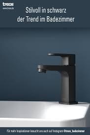 der trend im badezimmer die farbe schwarz waschbecken