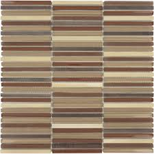 u s ceramic city brick brown glossy and frosted glass and