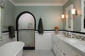 carrara marble subway tile bathroom traditional with arched