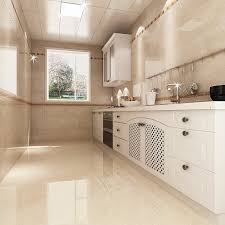 glazed ceramic tile for kitchen floor with u shaped layout and
