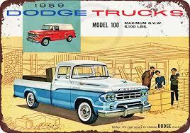 100 Vintage Dodge Trucks Amazoncom 1959 Reproduction Metal Sign 8 X 12