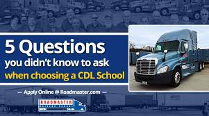 100 Trucking Schools In Nc Choosing A CDL School 5 Questions You Didnt Know To Ask