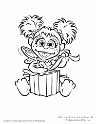 Sesame Street Coloring Page For Free Zoe