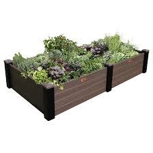 maintenance free raised garden bed gray gronomics target