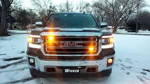 2015 GMC SIERRA Safety LED Strobes Www.WickedWarnings.com - YouTube