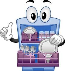 Dishes Clipart Full Dishwasher Washing Stock Vector