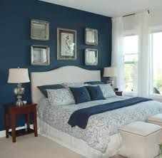 Wall Bedroom Contemporary Blue Decorations And White