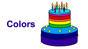 Learn Colours Kids Children Coloring Rainbow Birthday Cake Book
