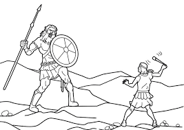 Kids Are Crazy For David And Goliath Coloring Pages