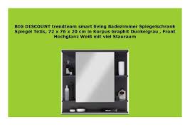 sale trendteam smart living badezimmer spiegelschrank