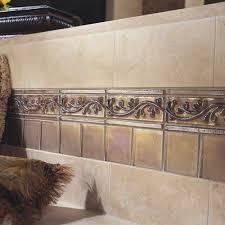 cristallo glass 8 x 3 decorative vine chair rail tile trim in