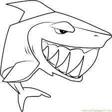 Shark Animal Jam Coloring Page