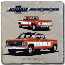 100 Chevy Dually Trucks 1973 OneTon 100 Stone Coaster GM Company Store