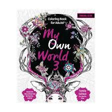 Coloring Book Rp Jual Desain Buku My Own World 3 For Adults Travel