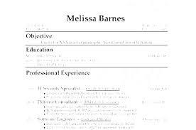No Work Experience Resume Examples Job