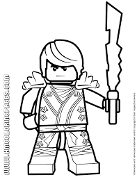 Ninjago Cole KX Holding Elemental Weapon Coloring Page
