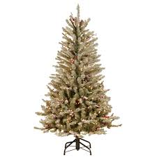 Slimline Christmas Trees With Lights by National Tree Company 4 5 Ft Dunhill Fir Slim Artificial