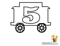 Preschool Numbers Coloring Number Five 5 At YesColoring