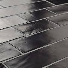 elitetile tivoli 3 x 6 ceramic subway tile in matte black