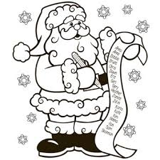 The Nice List Coloring Page