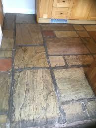 Sandstone Floor Before Renovation Burscough