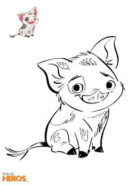 Moana Pig Disney Drawing Pua