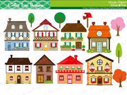 House Clipart Houses Clip Art Buildings Homes Cute