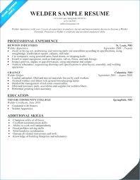 Resume Objective Samples Welding Plus Tank Welder Sample Rh Theautomataformula Co