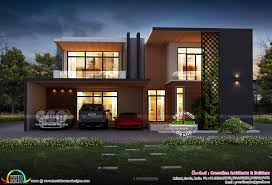 100 Contemporary Modern House Plans 5102 Square Feet Contemporary Modern House Plan Kerala Home Design