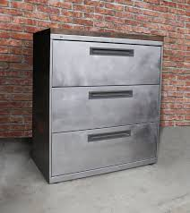 Three Drawer Filing Cabinet Wood by Refinished 3 Drawer Metal Filing Cabinet 30 36