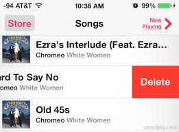 Delete Songs Directly on iPhone iPad or iPod touch