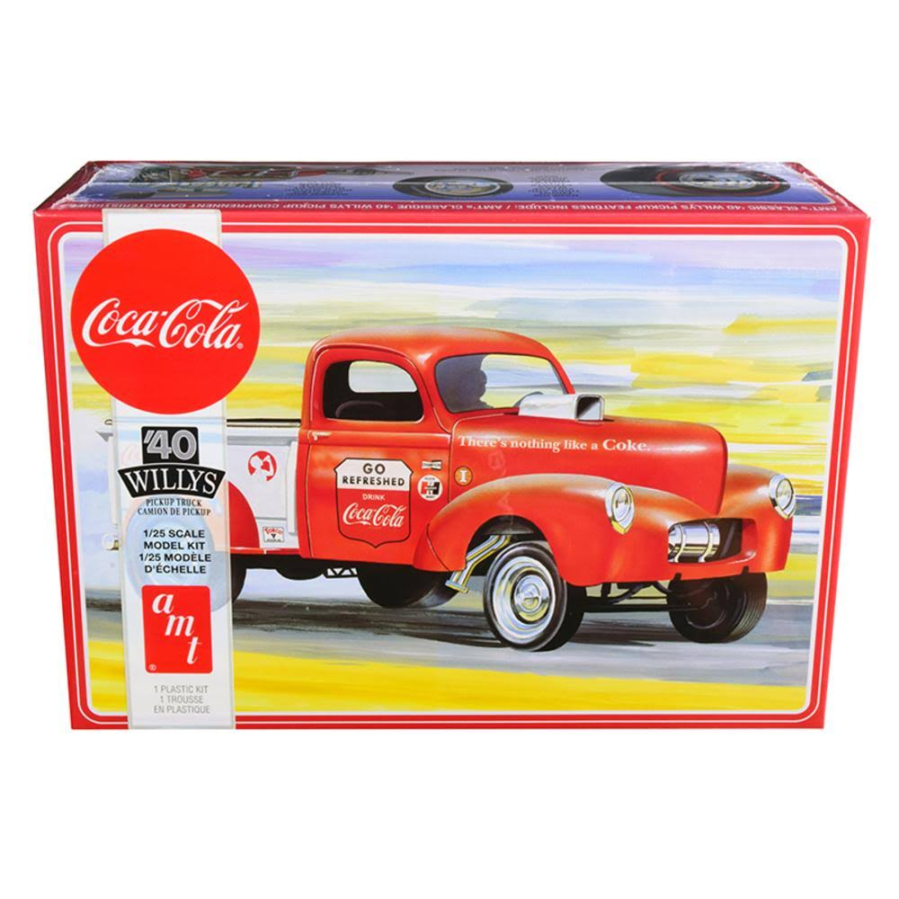 AMT 1940 Willys Gasser Coca-Cola Pickup Plastic Model Kit, 1/25 Scale