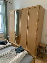 schlafzimmer komplett mit bett lattenrost matratze schrank