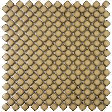 Home Depot Merola Penny Tile by Merola Tile Hudson Diamond Caffe 12 3 8 In X 12 3 8 In X 5 Mm