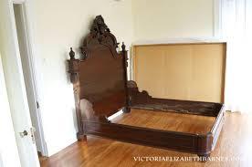 Retrofitting our Craigslist bed – DIY custom antique bed frame