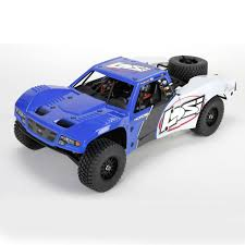100 Rc Model Trucks Losi Baja Rey 110 AVC RTR 4WD Trophy Truck In Blue LOS03008T1