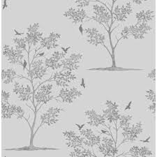 A Toile Rhcom Poetic Shabby Chic Black And White Wallpaper Flowers Grace Walls With The