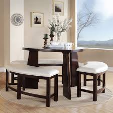 5 Piece Dining Room Set With Bench by Dining Tables 5 Piece Dining Set Triangle Shaped Dining Room