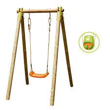 siege balancoire bébé portique évolutif 1 personne avec siège bébé inclus trigano pour